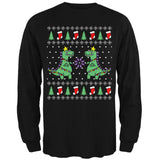 Tree Rex T Rex Ugly Christmas Sweater Mens Long Sleeve T Shirt