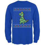 Big Tree Rex T Rex Ugly Christmas Sweater Mens Long Sleeve T Shirt