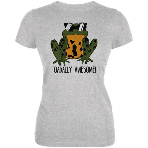 Toad Totally Awesome Funny Pun Juniors Soft T Shirt