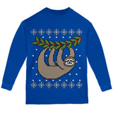 Big Hanging Sloth Ugly Christmas Sweater Youth Long Sleeve T Shirt