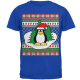 Penguin on Ice Ugly Christmas Sweater Mens Soft T Shirt
