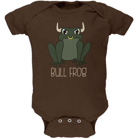Bull Frog Funny Pun Soft Baby One Piece