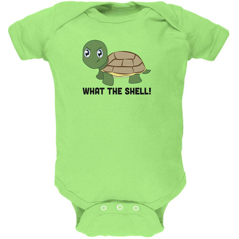 Turtle What The Shell Funny Pun Cute Soft Baby One Piece