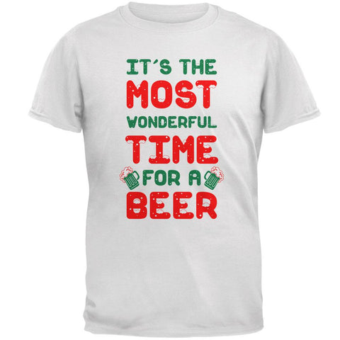 Christmas Most Wonderful Time for a Beer Mens T Shirt