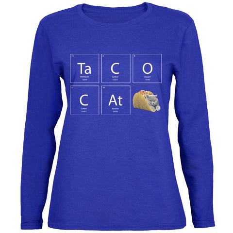 Taco Cat Periodic Table Womens Long Sleeve T Shirt