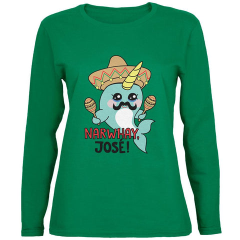 Narwhal Narwhay Jose Womens Long Sleeve T Shirt