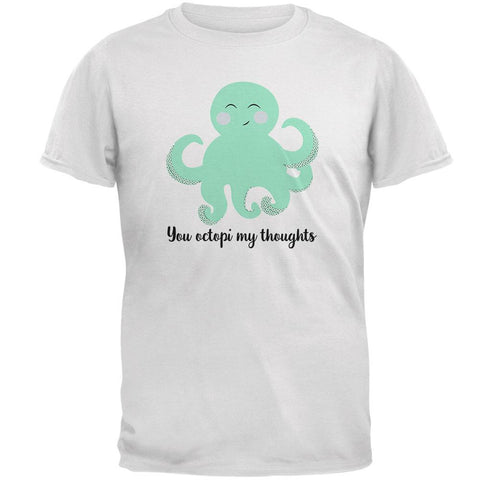 Octopus You Octopi My Thoughts Occupy Cute Pun  Mens T Shirt