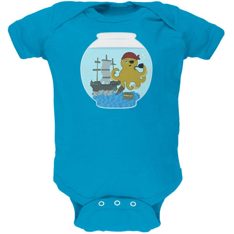 Fish Bowl Cute Pirate Octopus Soft Baby One Piece