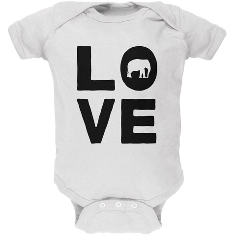 Elephant Love Soft Baby One Piece
