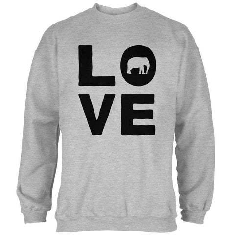 Elephant Love Mens Sweatshirt