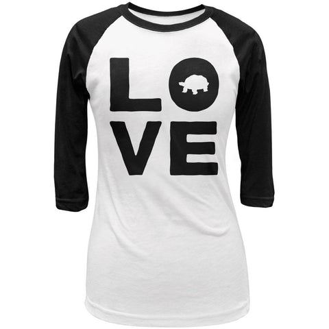 Turtle Love Juniors 3/4 Sleeve Raglan T Shirt