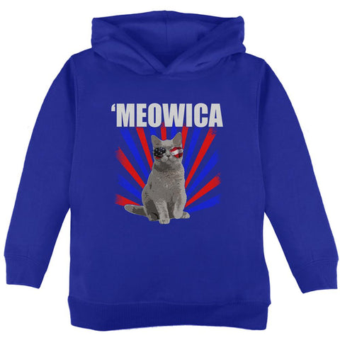 Cat 4th of July Meowica Toddler Hoodie