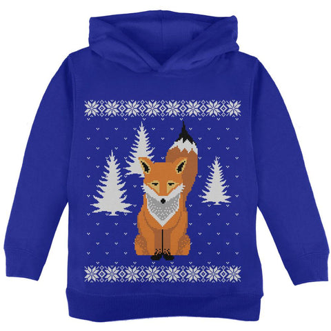 Big Fox Ugly Christmas Sweater Toddler Hoodie