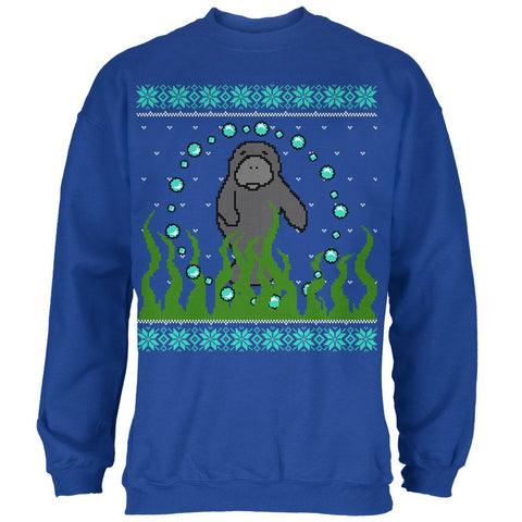 Ugly Christmas Sweater Manatee Floaty Potato Mens Sweatshirt
