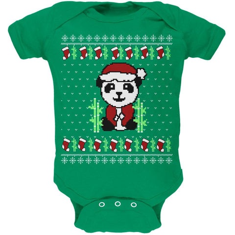 Ugly Christmas Sweater Panda Soft Baby One Piece