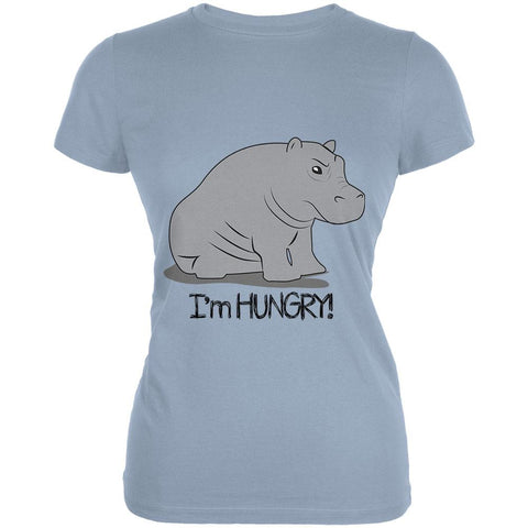 Hippo I'm Hungry Angry Funny Juniors Soft T Shirt