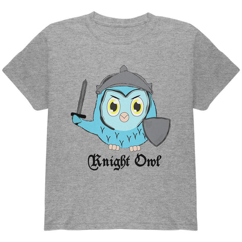 Knight Owl Night Funny Pun Youth T Shirt