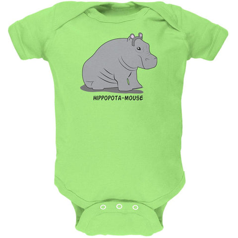 Hippo Mouse Hippopotamouse Funny Pun Soft Baby One Piece