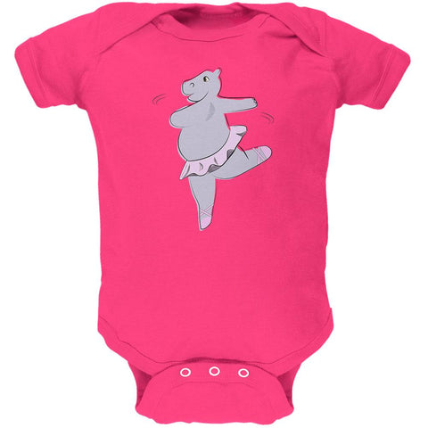 Dancing Hippo Ballerina Cute Soft Baby One Piece