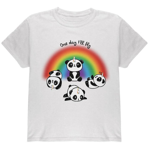 Panda Pandicorn One Day I'll Fly Youth T Shirt