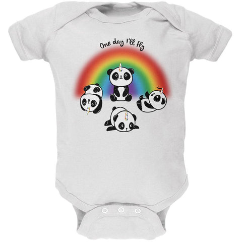 Panda Pandicorn One Day I'll Fly Soft Baby One Piece