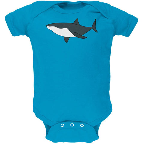 Great White Shark Cute Soft Baby One Piece