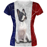 French Bulldog Live Forever Flag All Over Juniors T Shirt