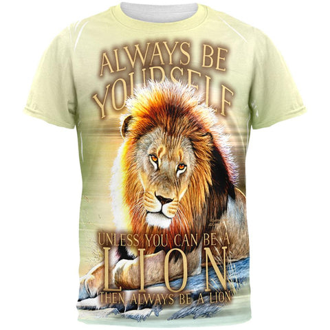 Always Be Yourself Unless Lion All Over Mens T Shirt