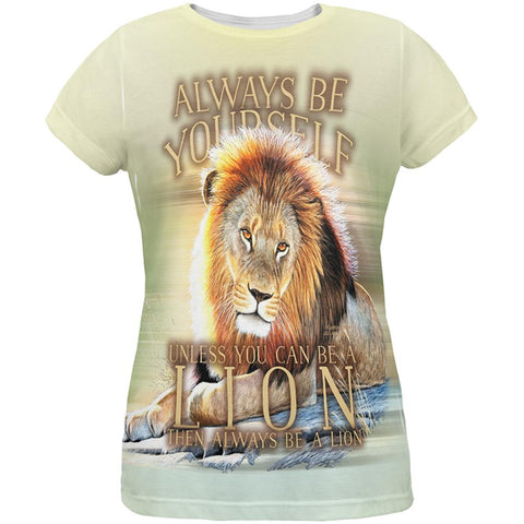 Always Be Yourself Unless Lion All Over Womens T Shirt