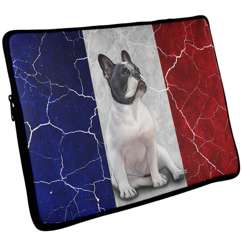 French Bulldog Live Forever Flag Laptop Sleeve 17 inch