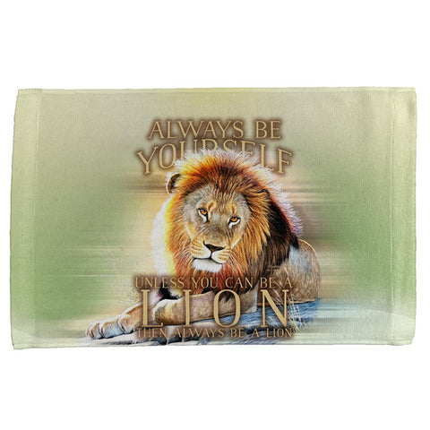 Always Be Yourself Unless Lion All Over Hand Towel
