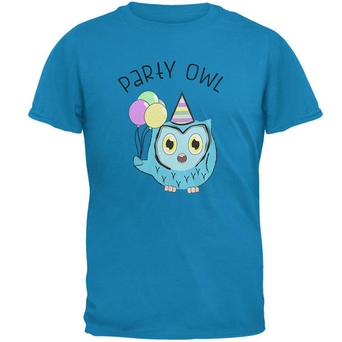Party Owl Funny Cute Mens T Shirt