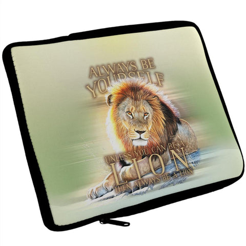 Always Be Yourself Unless Lion iPad Tablet Sleeve