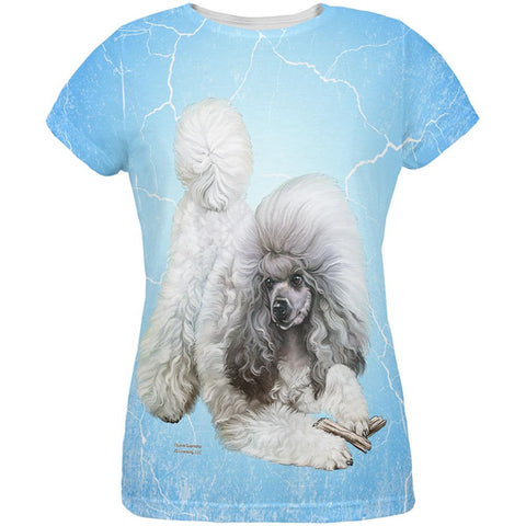 Poodle Live Forever All Over Womens T Shirt