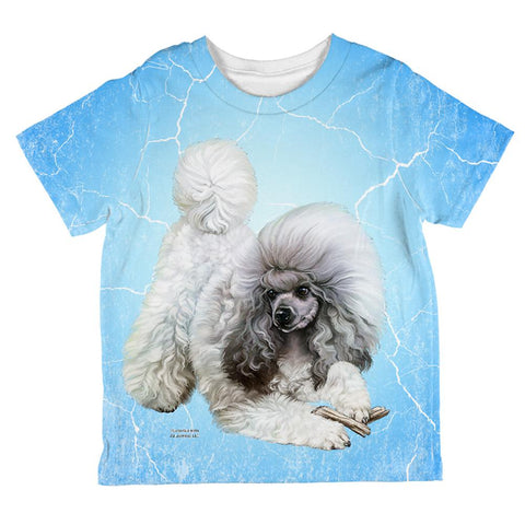 Poodle Live Forever All Over Toddler T Shirt