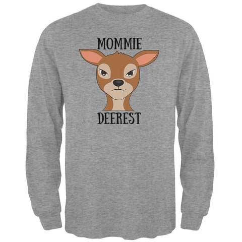 Deer Mommy Deerest Dearest Funny Pun Mens Long Sleeve T Shirt