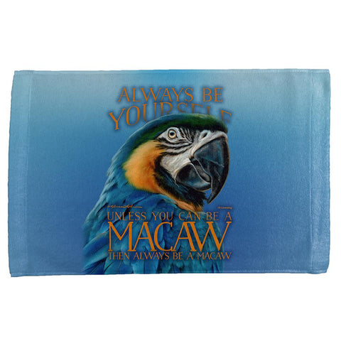 Always Be Yourself Unless Exotic Blue Macaw All Over Hand Towel