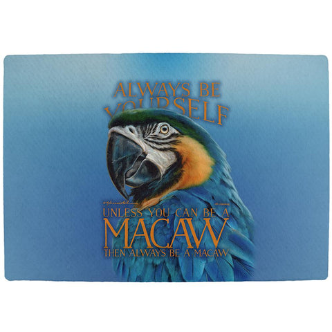 Always Be Yourself Unless Exotic Blue Macaw All Over Indoor Mat