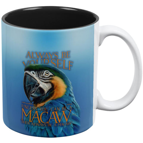 Always Be Yourself Unless Exotic Blue Macaw All Over Coffee Mug