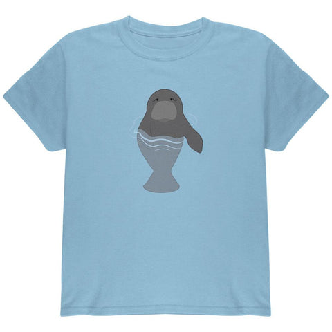 Manatee in Water Cute Youth T Shirt