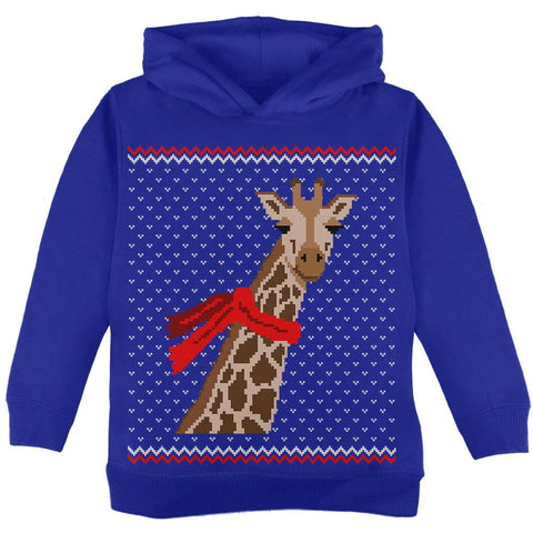 Big Giraffe Scarf Ugly Christmas Sweater Toddler Hoodie