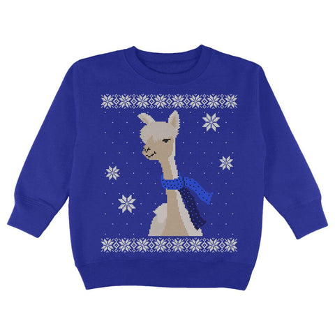 Big Alpaca Scarf Ugly Christmas Sweater Toddler Sweatshirt