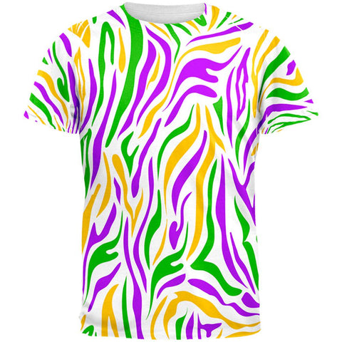 Mardi Gras Zebra Stripes Costume All Over Mens T Shirt
