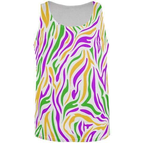 Mardi Gras Zebra Stripes Costume All Over Mens Tank Top