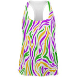Mardi Gras Zebra Stripes Costume All Over Womens Work Out Tank Top
