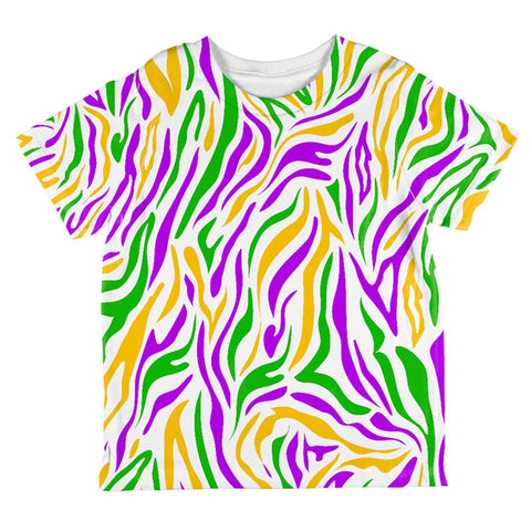 Mardi Gras Zebra Stripes Costume All Over Toddler T Shirt