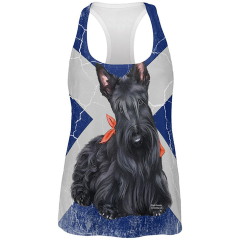 Scottish Terrier Live Forever All Over Womens Work Out Tank Top