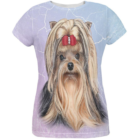 Yorkshire Terrier Live Forever All Over Womens T Shirt