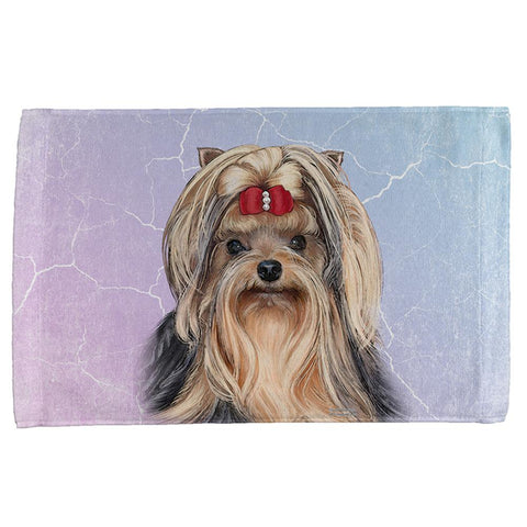 Yorkshire Terrier Live Forever All Over Hand Towel