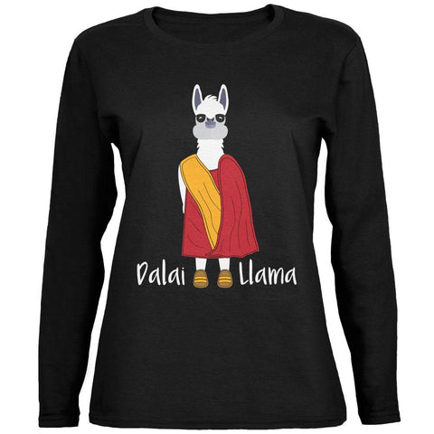 Funny Dalai Lama Llama Pun Ladies' Relaxed Jersey Long-Sleeve Tee